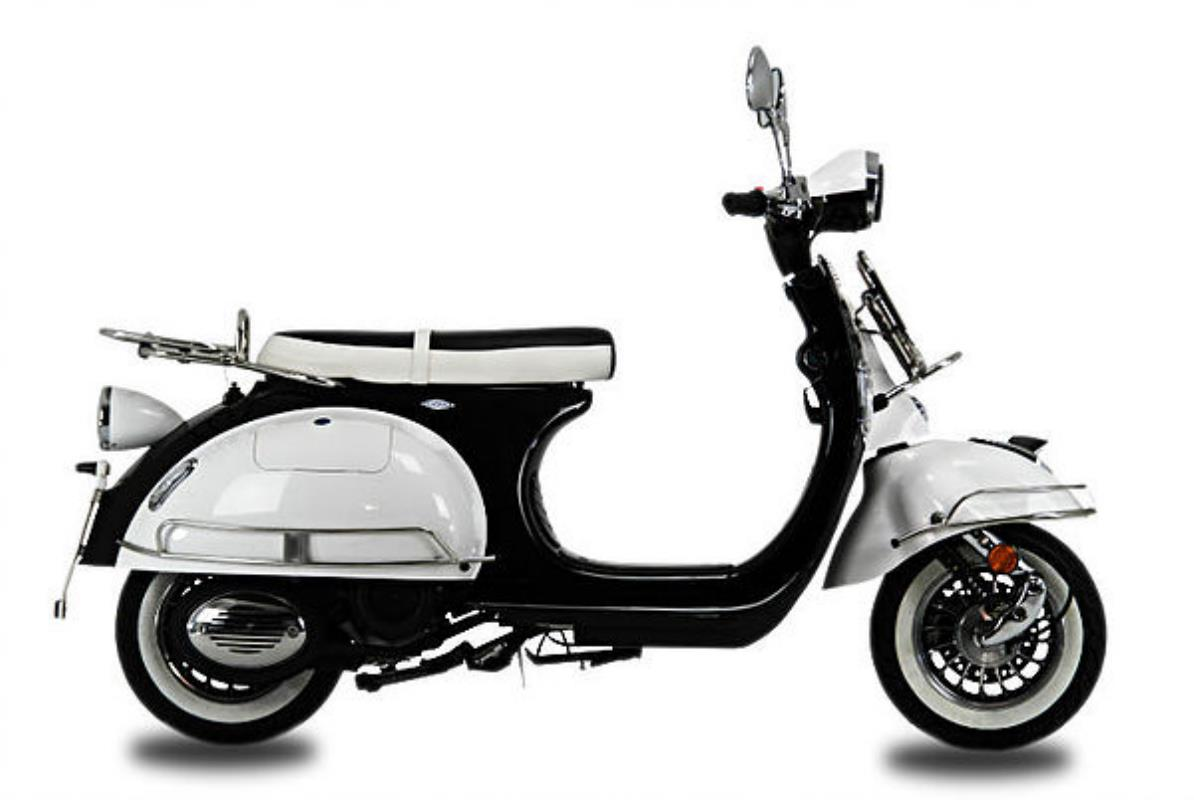 AJS Modena 125 Black and White Scooter